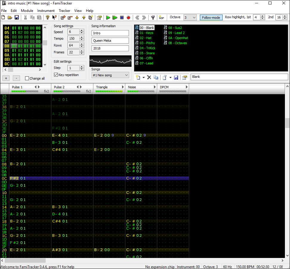 screenshot famitracker